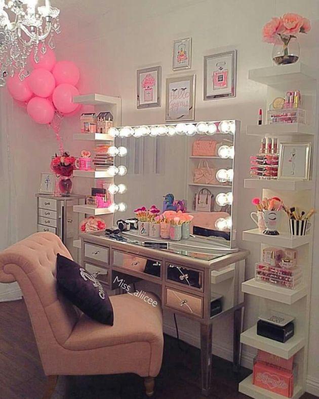 girls bedroom vanity mirror ideas