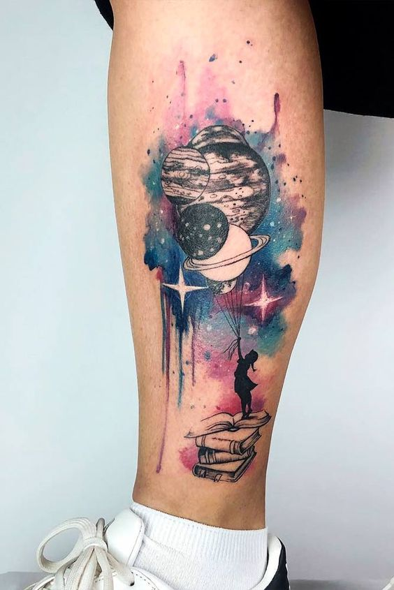 galaxy tattoo ideas for females