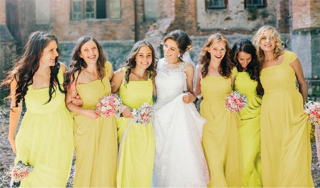tea yellow summer wedding dress ideas 2019