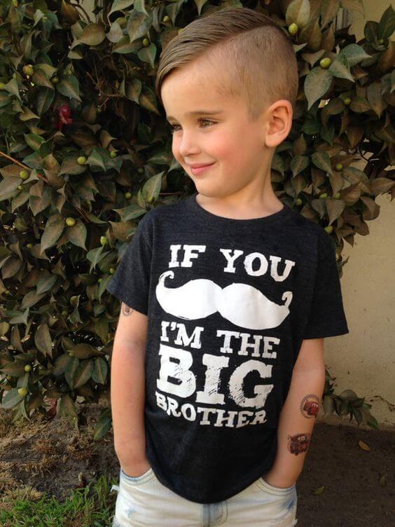 little boy side swept haircut