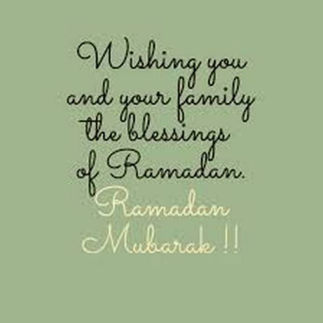 Ramadan Mubarak wishes for family