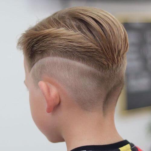 slicked back fade haircut