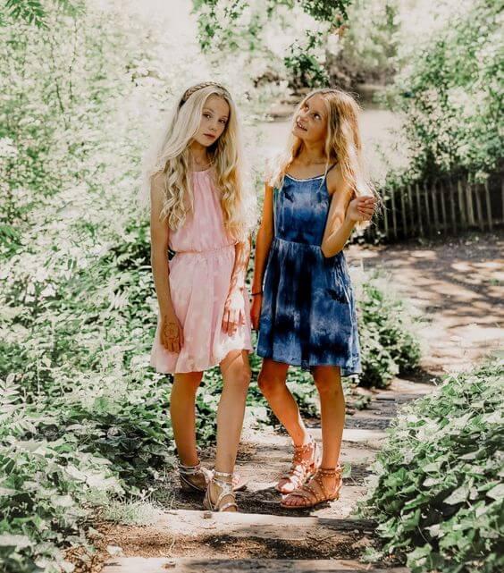 teen girls sleeveless sundresses