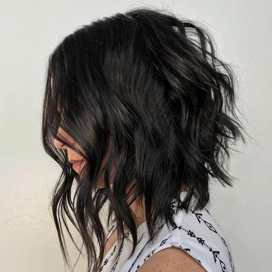 medium inverted lob haircut