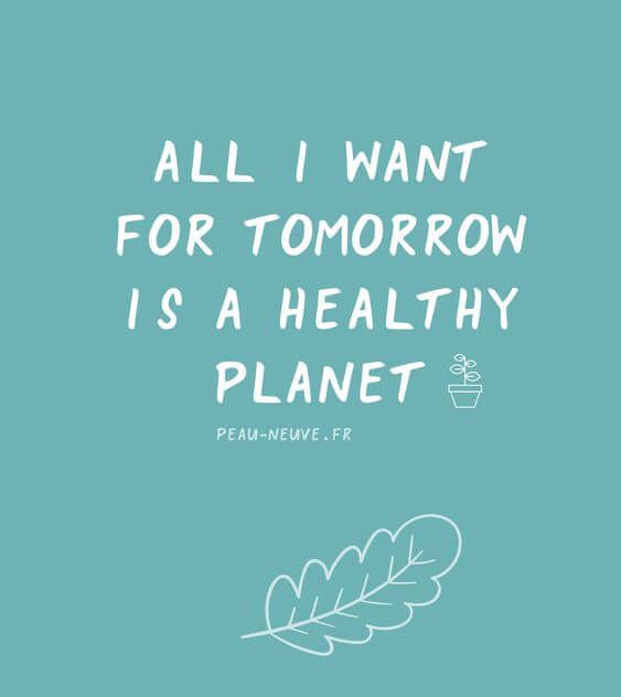 all i want for tomorrow is a healthy planet