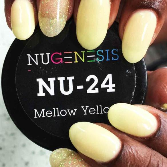 mellow yellow powder nails