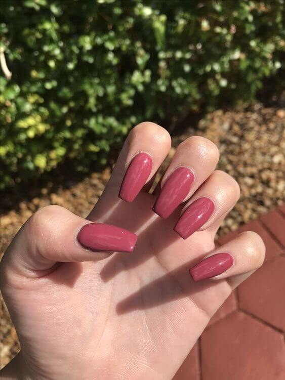 autumn fall coffin acrylic nails