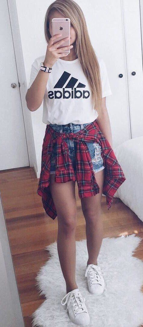 back to school shorts outfit ideas for girls
