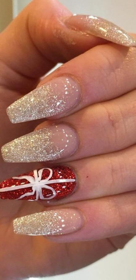 cute winter christmas nail designs