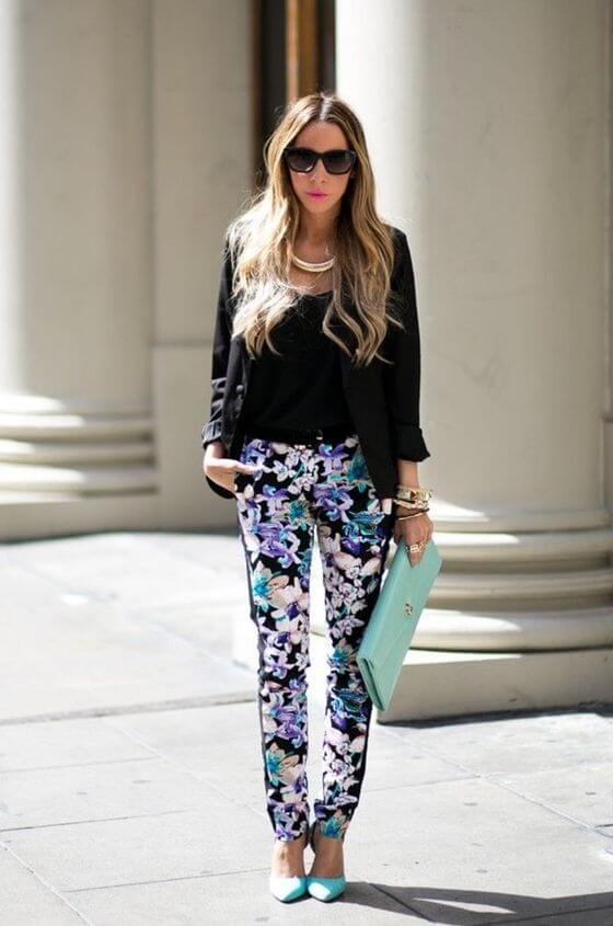 floral pant outfit ideas