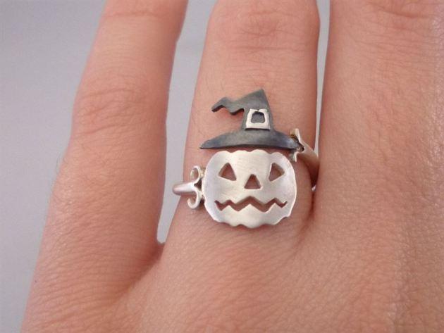 halloween pumpkin ring jewelry