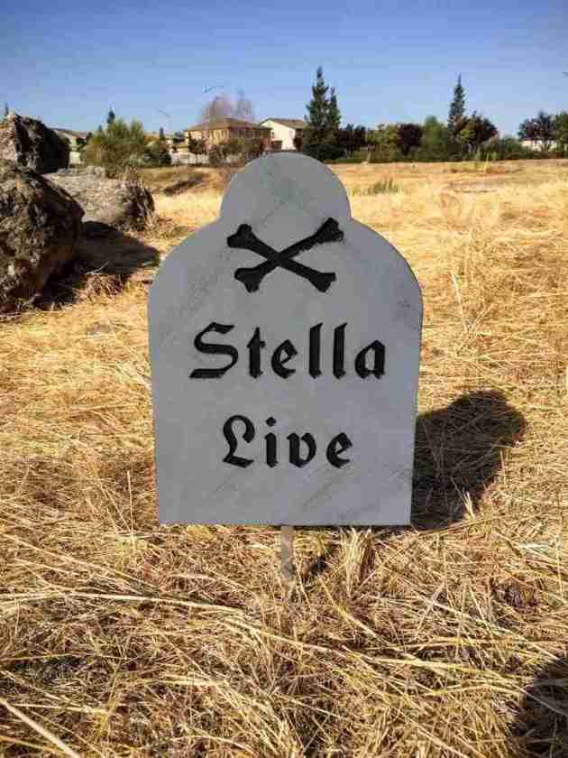 halloween tombstone sign ideas