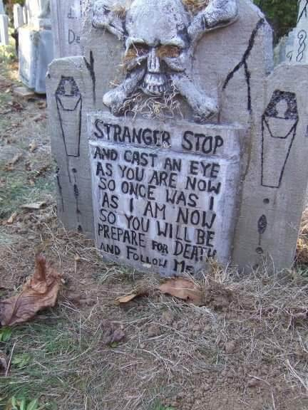 scary tombstones sayings