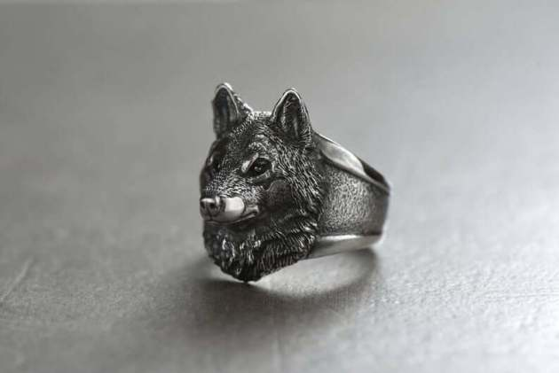 wolf ring jewelry for halloween