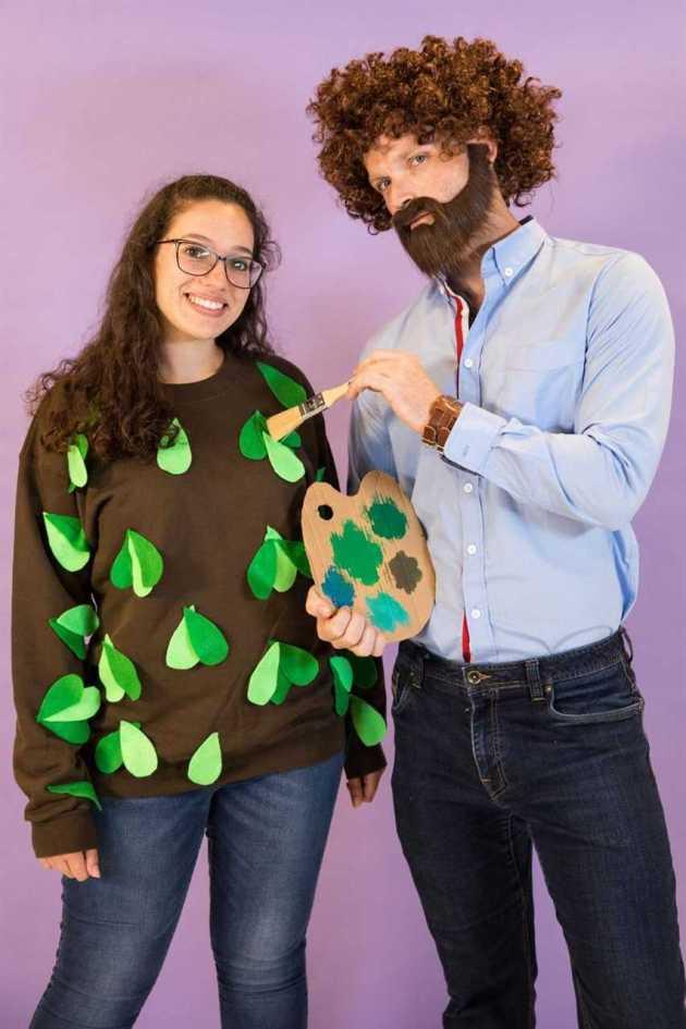 bob ross halloween costume ideas for couples