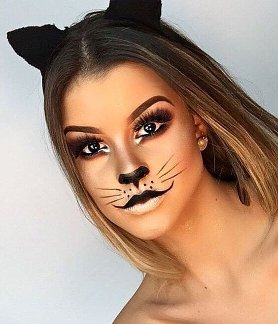 cute kitten outfit ideas with makeup