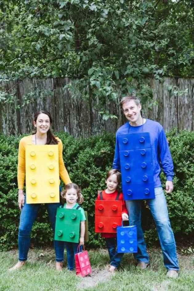 diy lego halloween costume ideas for family