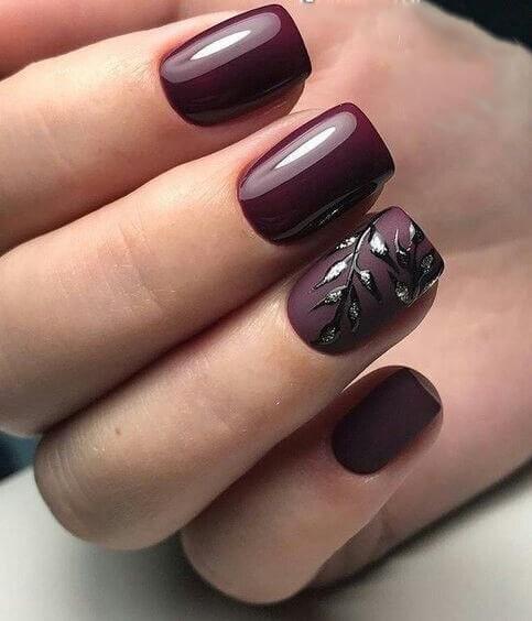 fall gel nail design ideas