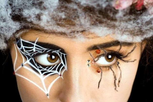 spiderweb halloween makeup looks