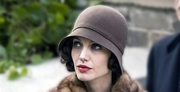 angelina jolie cloche hat with short hair