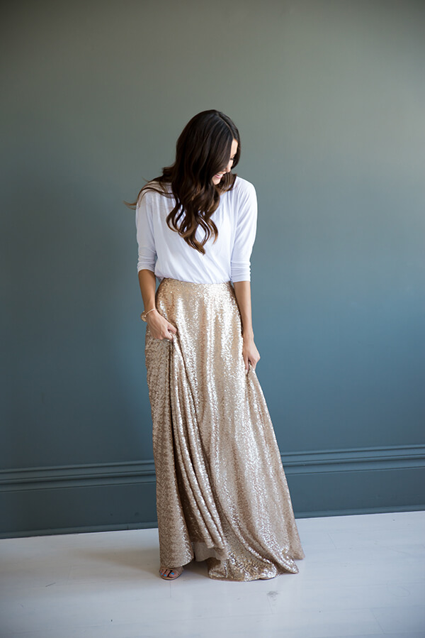 girls maxi skirt outfit ideas for christmas season