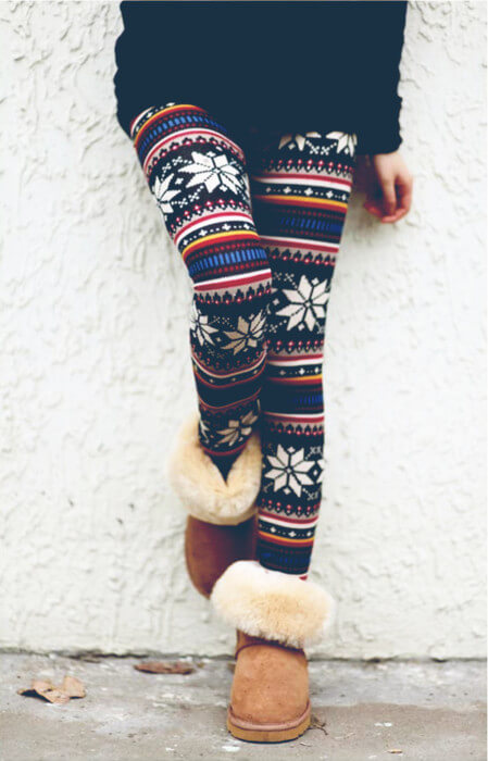 winter christmas holidays leggings outfit ideas for girls