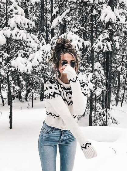 winter snow casual outfit ideas