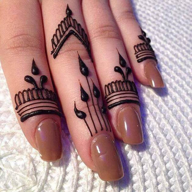 easy ring design finger mehndi styles
