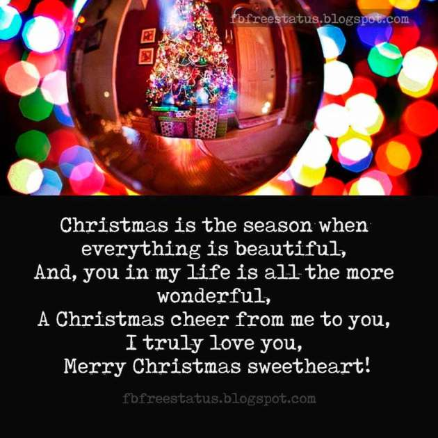 merry christmas images with love quotes for sweetheart