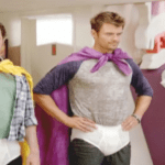 "Josh Duhamel and Jamie Kennedy in Underwear, Capes for their Nick Series, ""Fanboy and Chum Chum"""