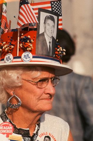 Reagan Supporter at 1976 Convention