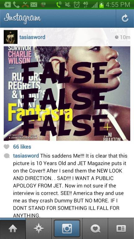 Fantasia Angry At Jet Cover Fantasia Angry Over Jet Magazine Cover [Photo/Details]