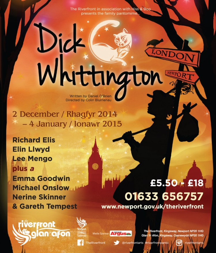 Dick Whittington at Newport Riverfront.