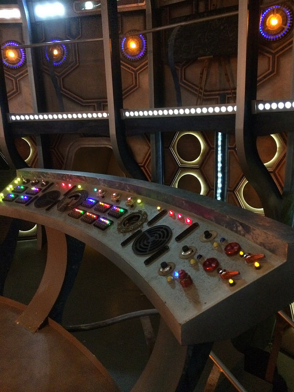 The TARDIS Set at BBC Roath Lock Studios, home of Doctor Who production.