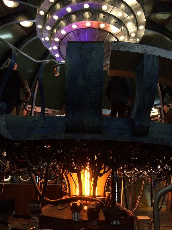Another view of the TARDIS set at BBC Roath Lock studios, Cardiff