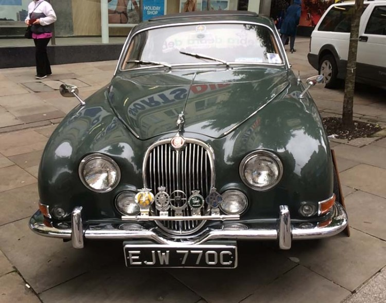 A classic Jaguar on display at Newport Festival of Classics