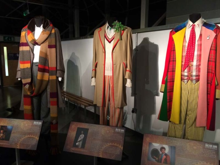 Various Doctor Who costumes from the TV series