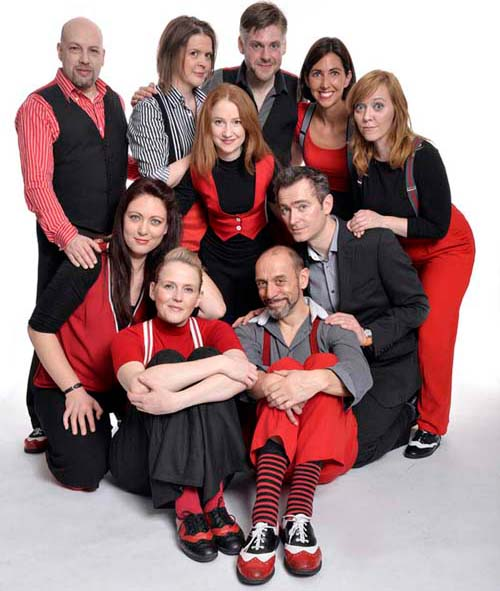 The cast of Showstopper - Photographs by Steve Ullathorne
