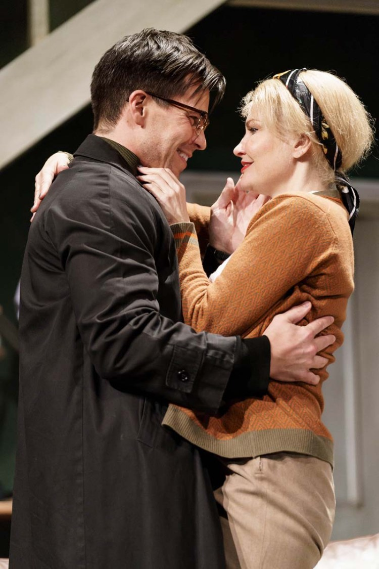 Oliver Mellor with Karina Jones who will star in Wait Until Dark at Cardiff;s New Theatre.Photo: Manuel Harlan.