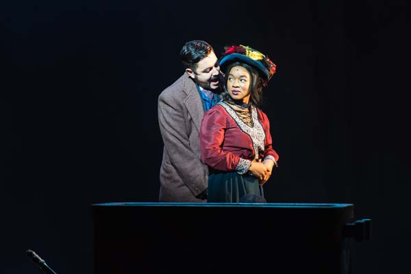 Noel Sullivan and Busisiwe Ngejane in Tiger Bay - The Musical at Wales Millennium Centre. Photo: Polly Thomas