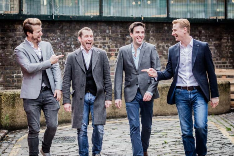 The Opera Boys will perform their show in both Rhyl and Carmarthen