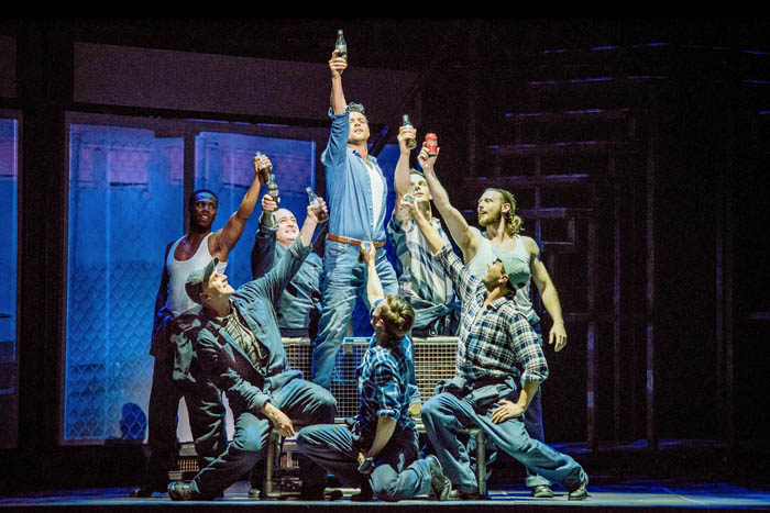 Ben Adams leads the ensemble cast in a performance of Flashdance - The Musical.Photography by Brian Hartley.