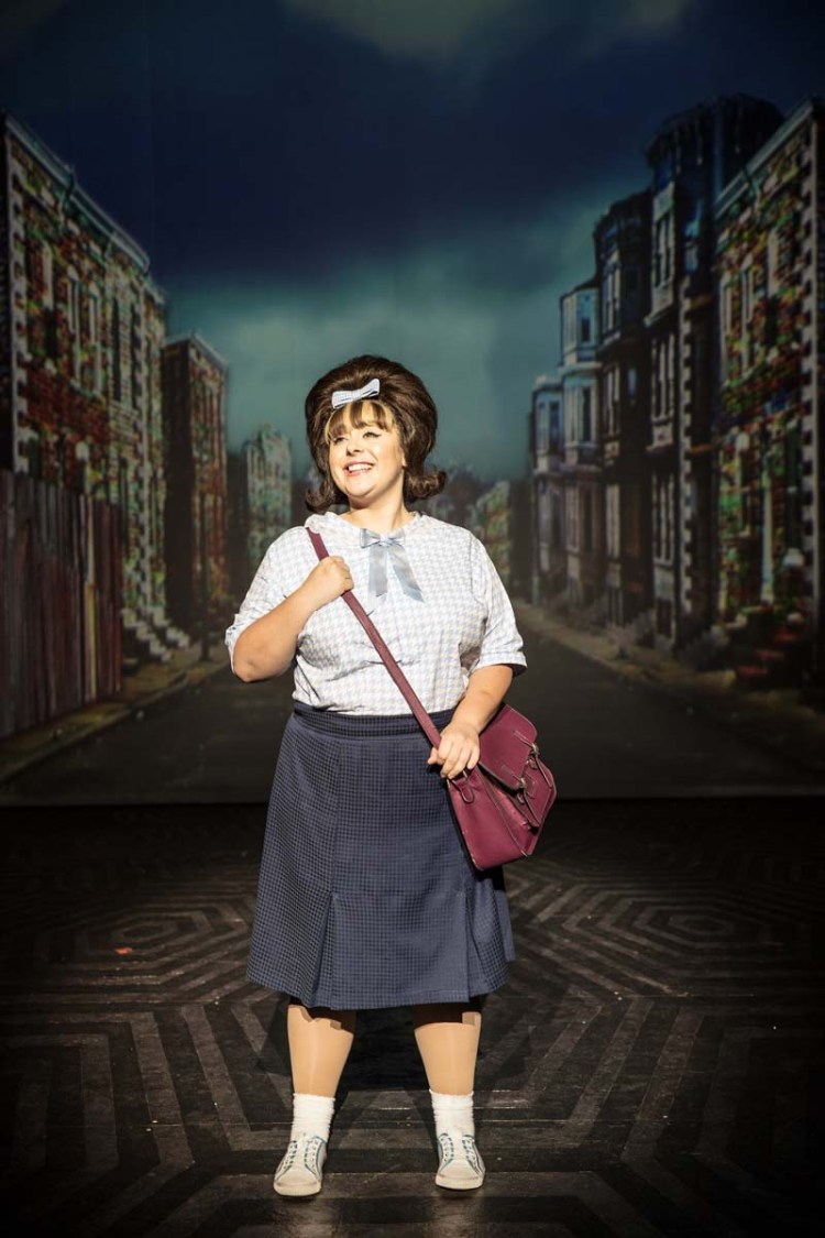 Rebecca Mendoza as Tracy Turnblad in Hairspray The Musical