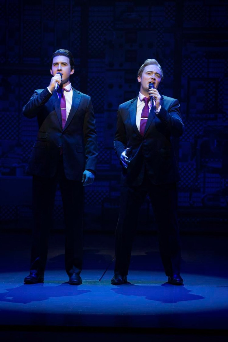 Grant McCovney and Ben Morris take to the stage as The Righteous Brothers in Beautiful - The Carole King Musical, coming to Bristol Hippodrome in April, 2018 Photo by Craig Sugden