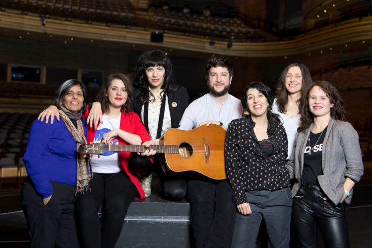 Festival of Voice 2018 artists & creatives, Kully Thiarai, Carys Eleri, Camille O'Sullivan, Gareth Bonello, Mathilde Lopez, Katell Keineg & Lucy Rivers pictured at The Festival of Voice launch