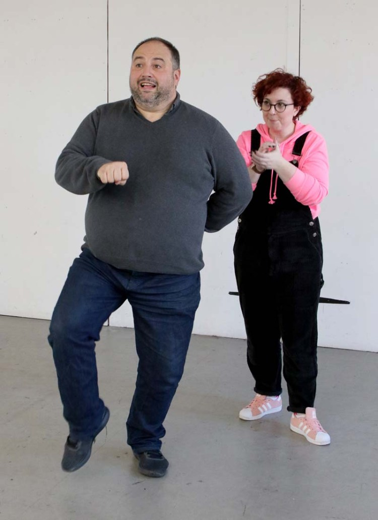 Wynne Evans in rehearsals for Monty Python's Spamalot at Wales Millennium Centre, which runs from April 20-24, 2018.