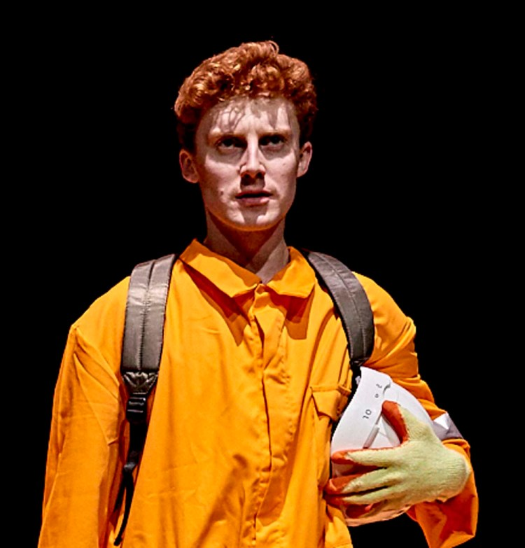 Jack Hammett who stars in Dirty Protest's  Star Wars  inspired play,  Lightspeed From Pembroke Dock  by Mark Williams , currently touring South Wales.