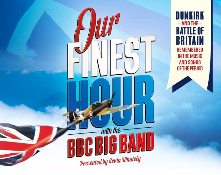 Our Finest Hour  presented by Kevin Whately featuring the BBC Big Band and mezzo soprano, Annie Gill commences at 3pm on Sunday 15 April, 2018 at St David's Hall, Cardiff.