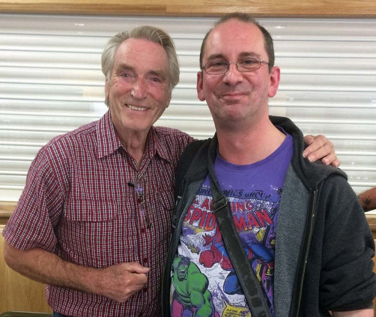 Andy Howells meets Frank Ifield at Cwmbran's Congress Theatre during a meet and greet