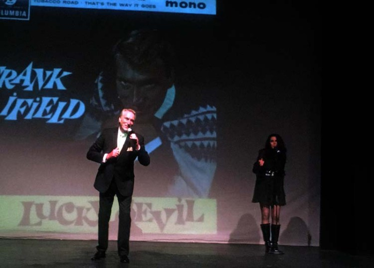 Frank Ifield on stage at Cwmbran's Congress Theatre with Nicki Gillis Picture: entertainmentsouthwales
